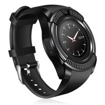 Relogio SmartWatch V8 Bluetooth Wifi Camera Celular Chip Cartao Musica Whatsapp Android E Ios - Preto - V Smart