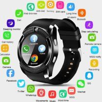 Relógio Smartwatch V8 Original Touch Bluetooth Gear Chip - Preta - Dreat