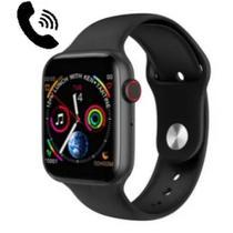 Relógio smartwatch w-34  com call - mensagem e fitness -preto -