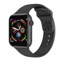 Relogio Smartwatch W34s 44mm Inteligente Monitor Cardiaco Pressão Esportes - Preto - Iwo