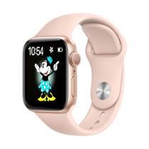Relogio Smartwatch W34s Atualizado 44mm Android iOS - Rosa - M2Wear