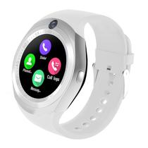 Relogio SmartWatch Y1 Bluetooth Camera Celular Chip Cartao Musica Android E Ios - Branco - Smart Bracelet