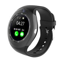 Relogio SmartWatch Y1 Bluetooth Camera Celular Chip Cartao Musica Android E Ios - Preto - A1