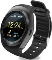 Relogio SmartWatch Y1 Bluetooth Camera Celular Chip Cartao Musica Android E Ios - Preto - Smart Bracelet