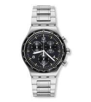 Relógio Swatch  Night Flight Yvs444g Aço Prata Original -