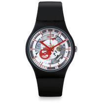 Relógio Swatch Siliblack Esqueleto - SUOB153 -