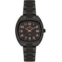 Relógio Technos Feminino Analógico Dress Preto Calendário 2115MRK/4P -