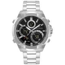 Relógio Technos Masculino Anadigi Prata W23721AAC/1P -