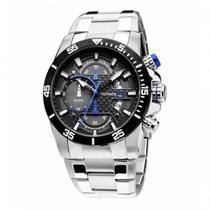 Relógio Technos Masculino Analógico Prata Ts Carbon Prova D'Água Os10er/1a -