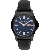 Relógio Technos Masculino Classic Steel Couro Preto 2305BA/2A -