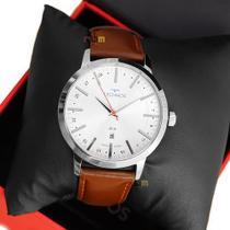 Relógio Technos Masculino Couro Marrom Classic Steel 2115MMHTDY/1B -