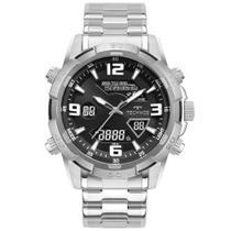 Relógio technos masculino digiana prata - w23305aa/1p -