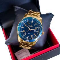 Relógio Technos Masculino Dourado Analógico Calendário 2115MQLS/4A -