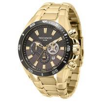 Relógio Technos Masculino Dourado TS Carbon OS2AAM/4P Analógico 10 Atm Cristal Mineral -