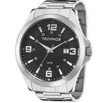 Relógio Technos Masculino Prata Analógico 2115MKT/1P Calendário -