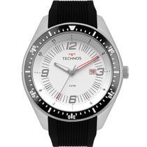 Relógio Technos Masculino Preto 2115MQR/8B Analógico 5 Atm Cristal Mineral Tamanho Grande -