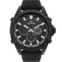 Relógio Technos Masculino Preto Perfomance BJ3814AC/8P Anadigi 5 Atm Acrílico Tamanho Grande -