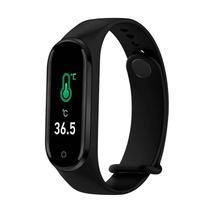 Relógio Temperatura Corporal TM4 PRO Puls Inteligente Esportes Cardio e P.Arterial cor: Preto - AAA
