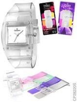 Relógio Unissex Analógico Champion Quadrado Cp28220s Aromati -