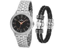 Relógio Unissex Champion Analógico  - CH22046C Prateado com Acessório
