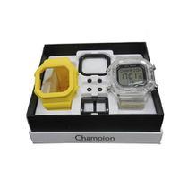 a83640a86f7 Relogio Unissex Champion Digital Cp40180x - Troca Pulseira -  Transparente amarelo