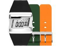 Relógio Unissex Mormaii Digital FZ/T8L Preto - com 2 Pulseiras Extras Coloridas