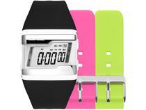 Relógio Unissex Mormaii Digital FZ/T8V Preto - com 2 Pulseiras Extras Coloridas