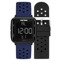Relógio Unissex Mormaii Digital MO6600AN/T8A 38mm Pulseira Silicone Preta e Azul -