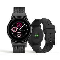 Relógio Unissex Seculus Smartwatch 79005LPSVPE2 49mm Aço Preto -