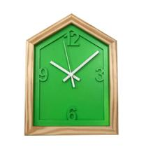 Relógio Verde em Formato de Casa decoração Sala Cozinha - Az Design
