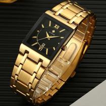 Relógio Wwoor Ouro Luxo Masculino A Prova D'água C/ Caixa M1 -