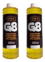Removedor e tira excesso megahair fita adesiva kit 2x500ml - G8