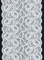 Renda elastano p/ fabricação lingeries  ROSS0018 2724 Branca - Loja da Renda