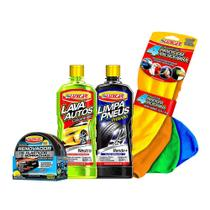 Renovador Lava Auto Limpa Pneu e Panos Microfibra Luxcar -