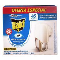 Repelente Elétrico Líquido Raid - 1 Aparelho +1 Refil 32,9ml -
