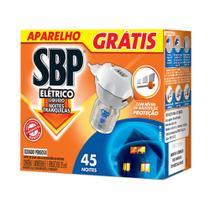 Repelente Elétrico Líquido SBP 45 Noites Aparelho + Frasco Grátis 35ml -