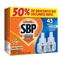 Repelente Elétrico Líquido SBP 45 Noites C/ 02 Refis 35ml (Promoção: 50% Desc. no 2o. Refil) - Reckitt b.
