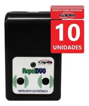 Repelente Eletrônico Ultrassônico Repel Duo Capte Kit 10 Un -