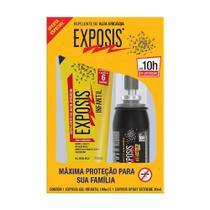 Repelente Exposis Infantil Gel 100ml + Repelente Extreme Exposis Spray 40ml Oferta Especial -