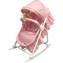 Repouseira Mini berço e Balanço Sonequinha  até 15 kg Rosa Baby Style -