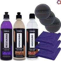 Restaurax Vonixx + Higicouro + Hidracouro + 3 Aplicadores + 3 Toalhas 40x35 -