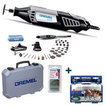 Retífica DREMEL 4000 Prof 175W Kit 36 Aces.+ 3 Acop.+ 1 Kit Brocas + Kit Cortar DREMEL -