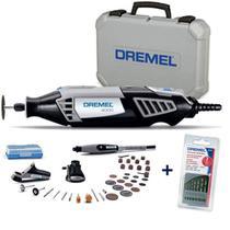 Retífica DREMEL 4000 Profissional 175W c/ 36 Acess + 3 Acoplamentos + 1 Kit Brocas DREMEL -