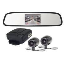 Retrovisor Com Câmera Frontal e Traseira Tela 4,3'' Lcd Roadstar - RS-504BR -