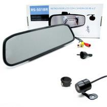 Retrovisor com Tela TFT 4,3 polegadas e Câmera de Ré Universal RS-501BR Roadstar -