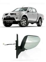 Retrovisor Elétrico Cromado L200 Triton 2008 2009 2010 2011 2012 2013 2014 - Mitsubishi