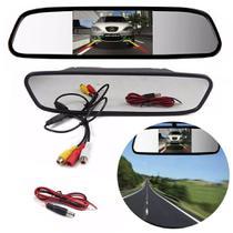 Retrovisor Espelho LCD 4.3 Pol Para Camera De Re Carro Automotivo (ZE-0027/BSL-CAR-6) - Ideal