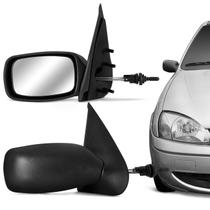 Retrovisor Fiesta 1996 1997 1998 1999 2000 2001 2002 2003 Preto com Controle - Prime