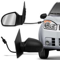 Retrovisor Fiesta Hatch Sedan 02 03 04 05 06 07 08 09 10 11 12 13 14 Preto com Controle - Retrovex