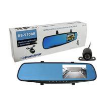 """Retrovisor Roadstar TELA 4.3"""" + Câmera Frontal Acoplada + Câmera de Ré RS-510BR -"""